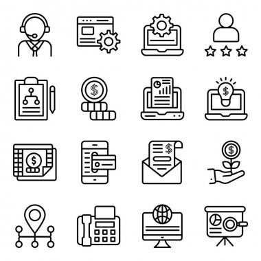 Business Analysis Linear Icons Pack icon