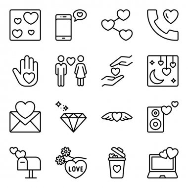 Pack of Valentine Day Line Icons icon