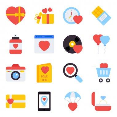 Pack of Love Flat Icons icon