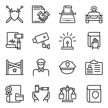 Pack of Justice Linear Icons icon