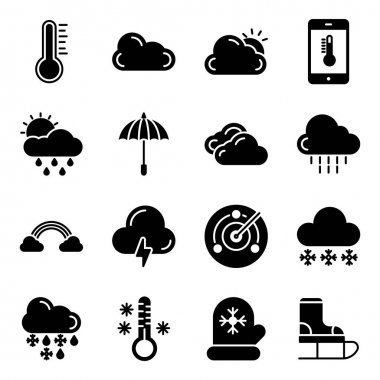 Pack of Weather Solid Icons icon