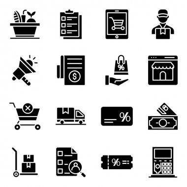 Pack of Commerce Solid Icons icon