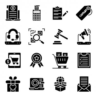 Pack of Shopping and Buying Solid Icons icon