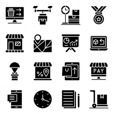 Pack of Shopping and Spending Solid Icons icon