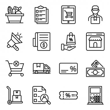 Pack of Commerce Linear Icons icon