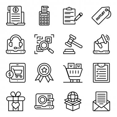 Pack of Shopping and Buying Linear Icons icon