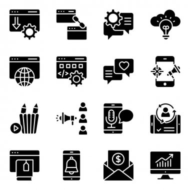 Pack of Seo Solid Icons icon