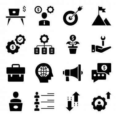 Pack of Office and Business Glyph Icons icon