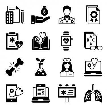 Pack of Medical Solid Icons icon