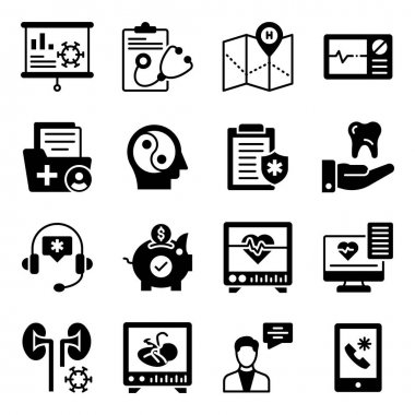 Pack of Medical and Healthcare Solid Icons icon