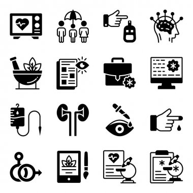 Pack of Healthcare Solid Icons icon