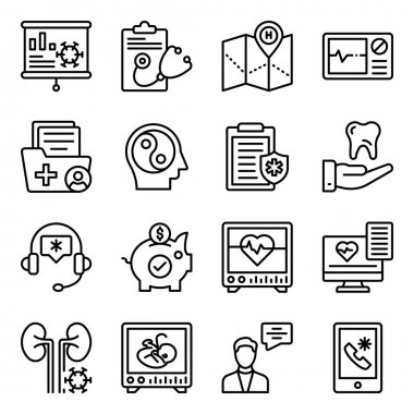 Pack of Medical and Healthcare Linear Icons icon