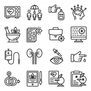Pack of Healthcare Linear Icons icon