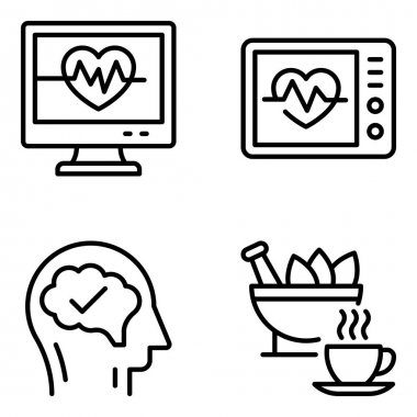 Pack of Pharmaceutical Linear Icons icon