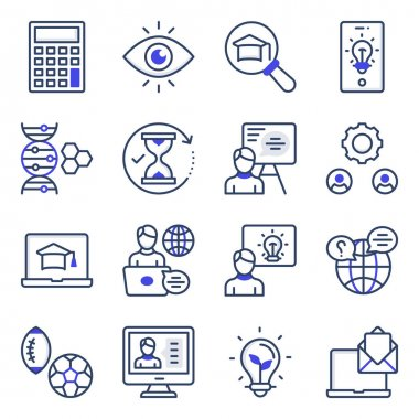Pack of Learning Flat Icons icon