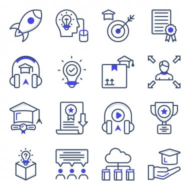 Pack of Knowledge Flat Icons icon