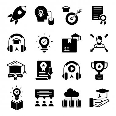 Pack of Knowledge Linear Icons icon