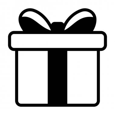 Surprise gift, package vector in solid design icon