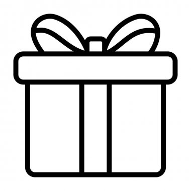 Surprise gift, package vector in linear design icon
