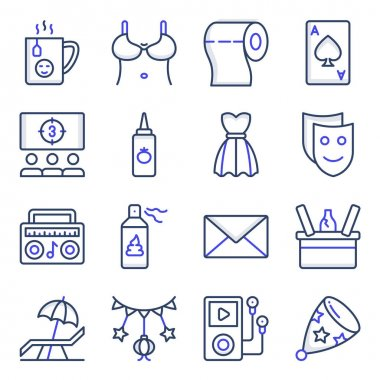 Pack of Party and Celebration Flat Icons icon