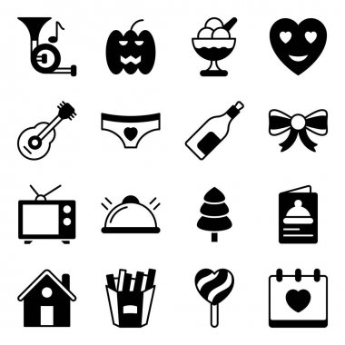 Pack of Party and Event Solid Icons icon