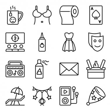 Pack of Party and Celebration Linear Icons icon