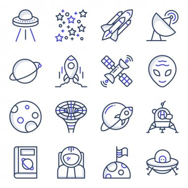 Pack of Space Flat Icons icon