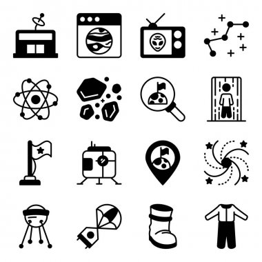 Pack of Space and Astronomy Solid Icons icon