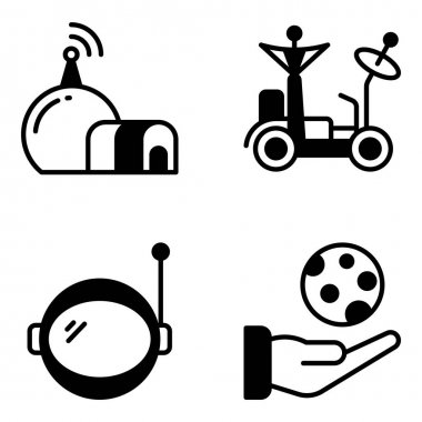 Pack of Space and Astrology Solid Icons icon