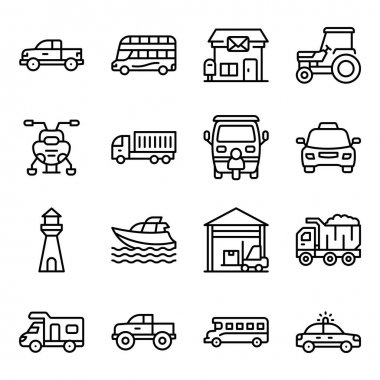 Pack of Transport Linear Icons icon