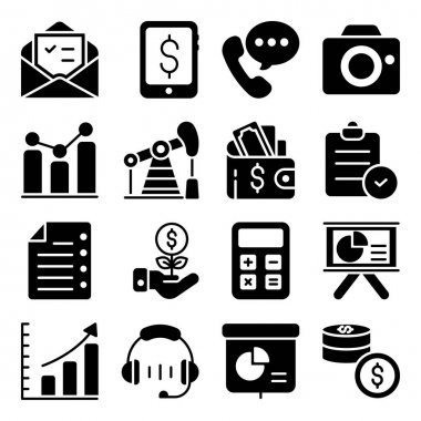 Pack of Business Glyph Icons icon