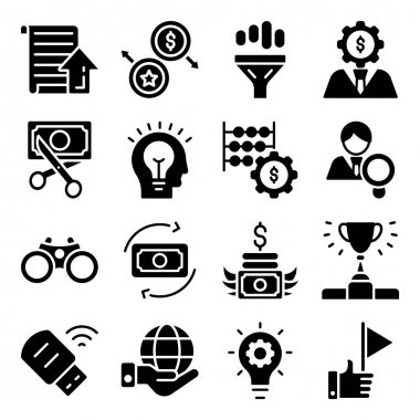 Pack of Money Management Glyph Icons icon