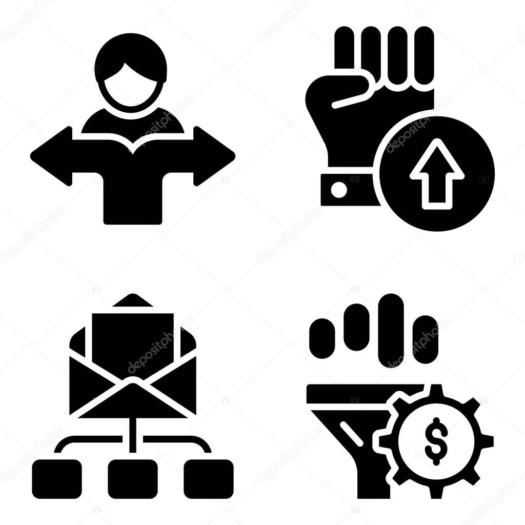 Pack of Online Business Glyph Icons icon