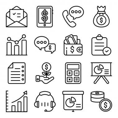 Pack of Business Linear Icons icon