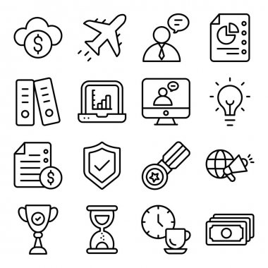 Pack of Office and Business Linear Icons icon