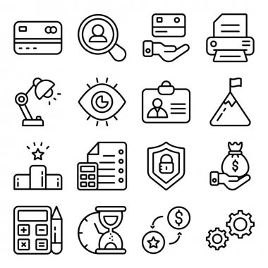 Pack of Financial Business Linear Icons icon