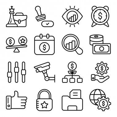 Pack of Business Graphic Linear Icons icon