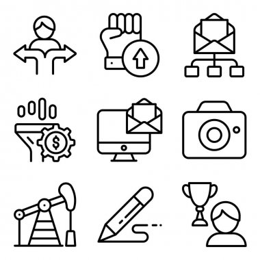 Pack of Online Business Linear Icons icon