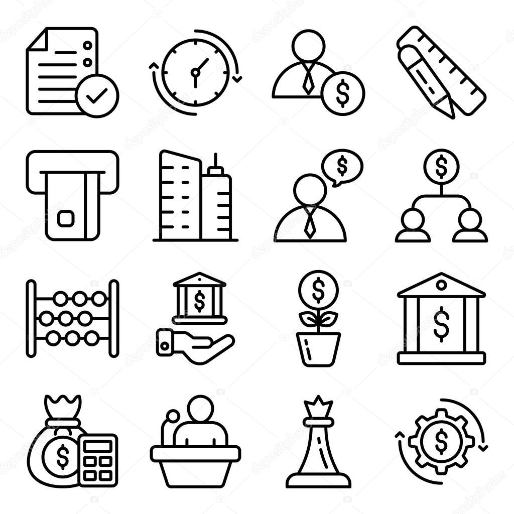 Pack of Business and Ecommerce Linear Icons icon
