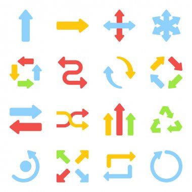 Pack of Arrows Flat Icons icon