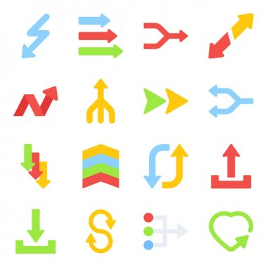 Pack of Navigational Arrows Flat Icons icon