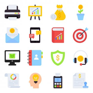 Pack of Investment Flat Icons icon