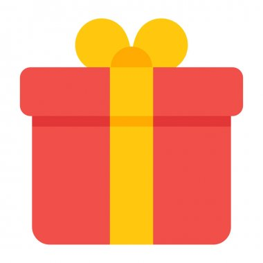 Surprise gift, package vector in flat design icon