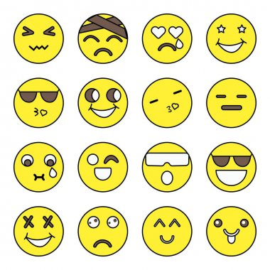 Pack of Smiley Flat Icons icon