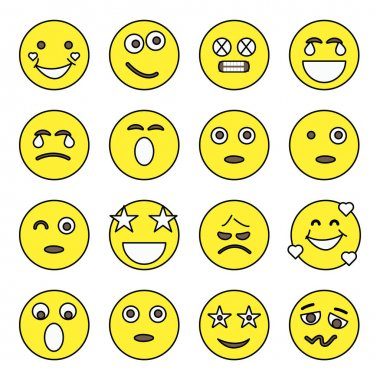 Pack of Emotion and Face Expression Flat Icons icon