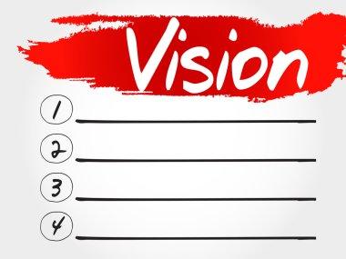 Vision blank list