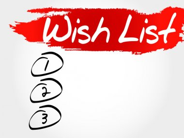 Wish List blank list