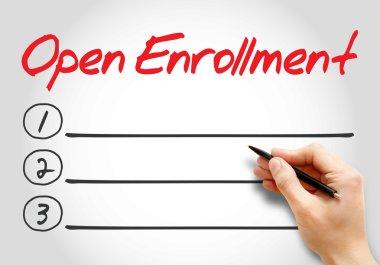 Open Enrollment blank list