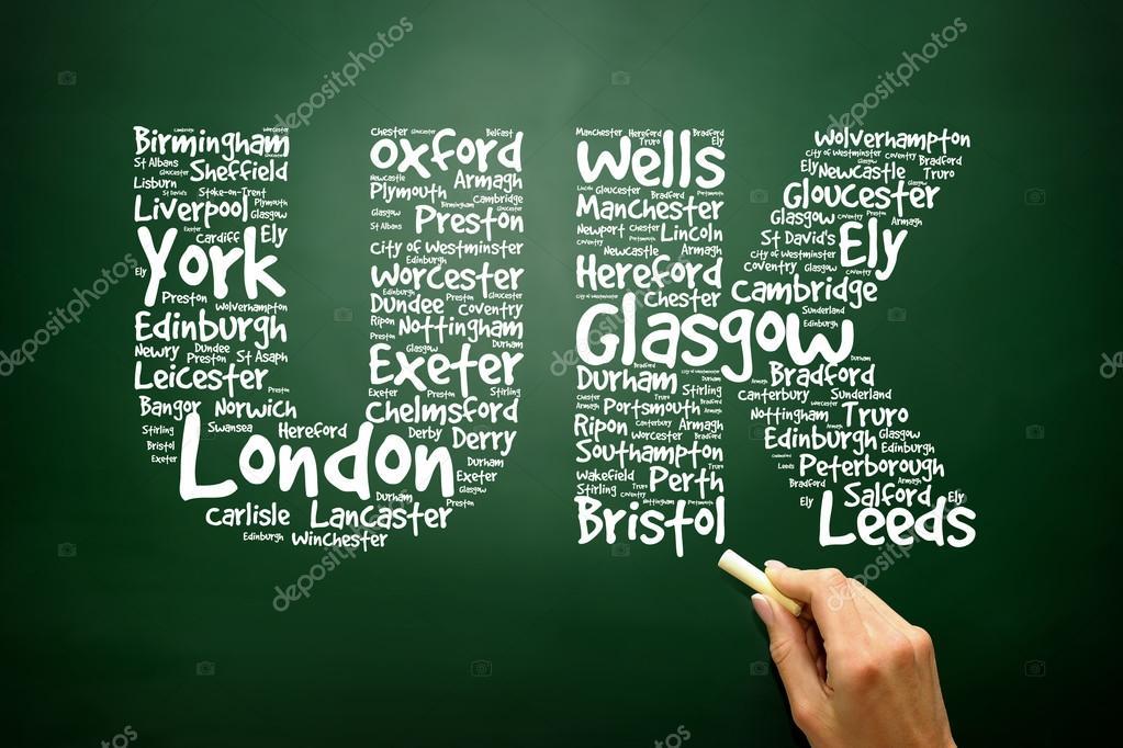 Concetto b nuvola il lettere disegnate a mano nel regno for Unito lettere