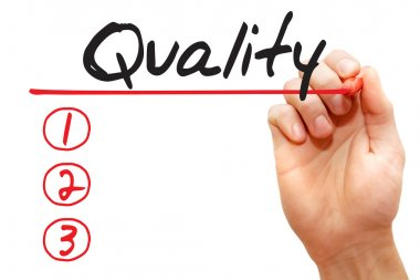 Hand writing Quality List, business concep